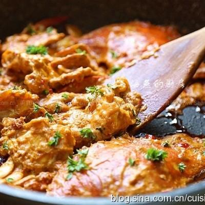 泰式香辣咖喱蟹