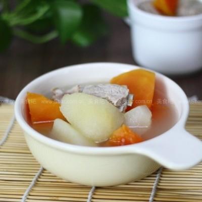 木瓜雪梨排骨汤