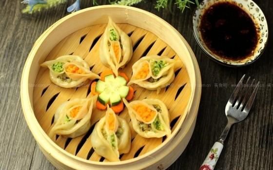 鸳鸯蒸饺(太会玩了,这样的主食怎么下口?)