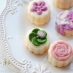 花式彩色奶黄冰皮月饼