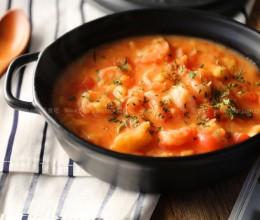 鲜虾番茄疙瘩汤