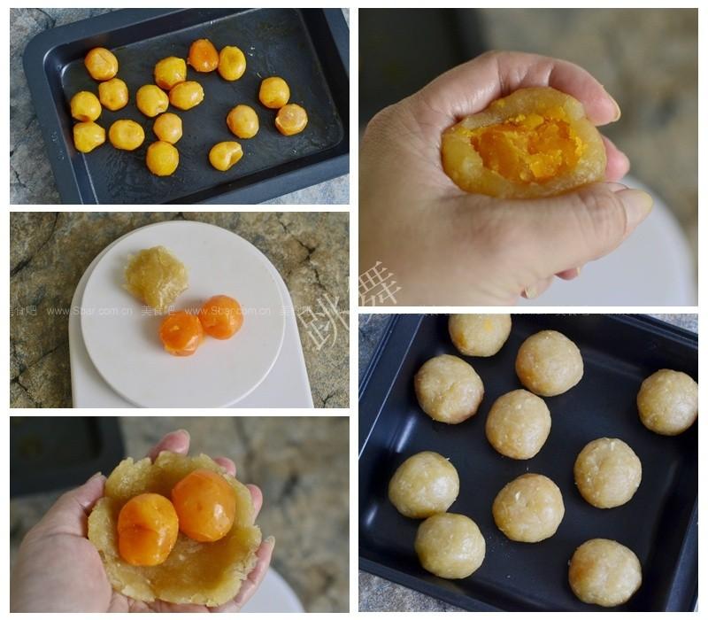 广式椰蓉双蛋黄月饼