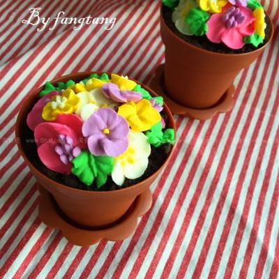 提拉米苏花盆蛋糕