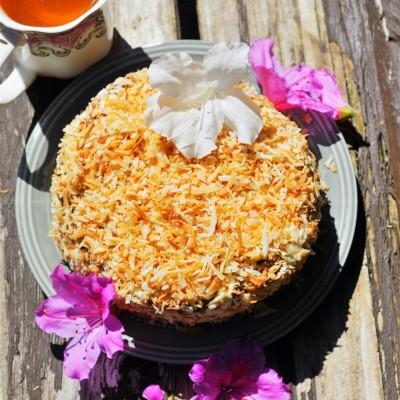椰子脆巧克力奶油芝士蛋糕