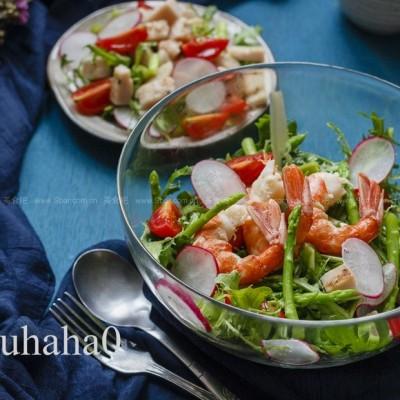 油醋汁红虾沙拉