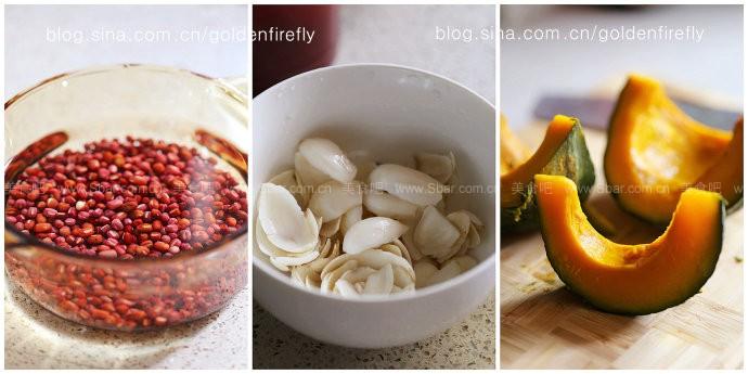 南瓜百合红豆甜汤