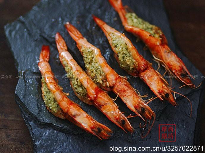 薄荷蒜蓉鸡扒烤虾