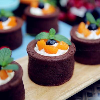 香草巧克力杯子蛋糕
