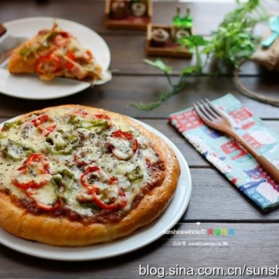 双椒培根披萨