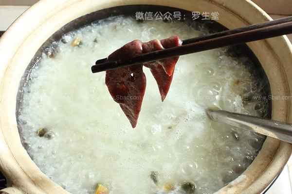 皮蛋猪肝粥