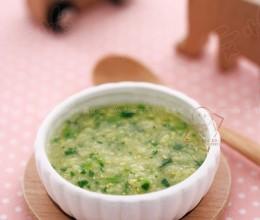 菠菜蛋黄小米粥