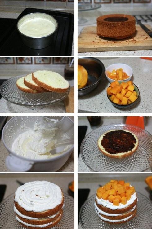 优格芒果奶油蛋糕