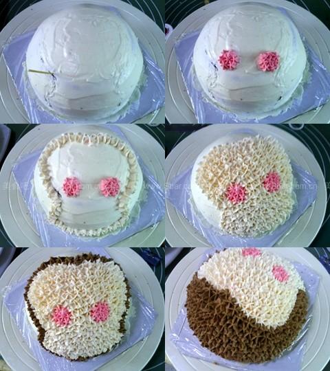小猴裱花蛋糕