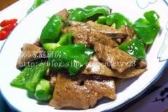 青椒猪肝(青椒炒猪肝)