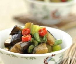 茄子青椒炒豇豆(青椒茄子炒豇豆)
