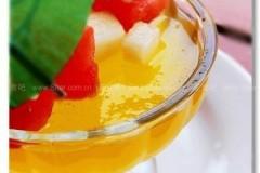 甜橙水果果冻(吉利丁片版)