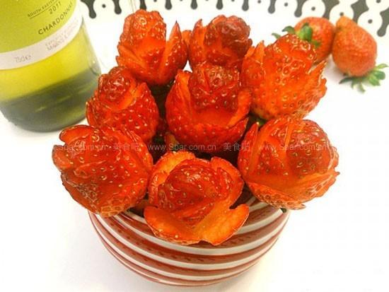 草莓玫瑰 水果拼盘