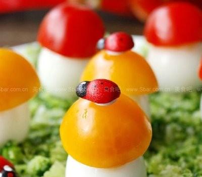 鹌鹑蛋小蘑菇(水果拼盘)