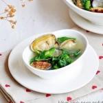 花蛤莴苣叶汤