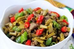 酸豇豆炒羊肉