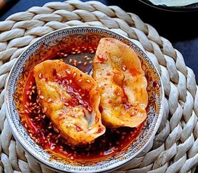韭苔素馅饺子