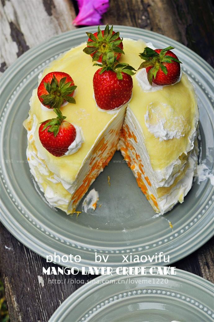 芒果奶油千层蛋糕
