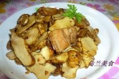 五花肉炒洋姜片