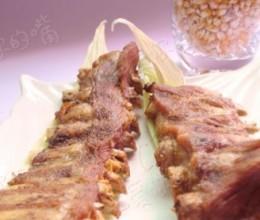 玉米皮烤脱脂排骨