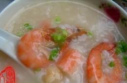 鲜虾瑶柱粥