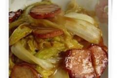 醋熘白菜炒里脊肉