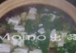 香菇芫茜豆腐汤