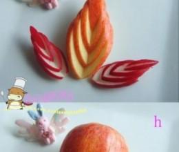 简易苹果花-水果拼盘