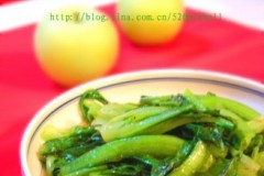 白灼油麦菜