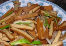 五香豆干炒肉
