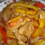彩椒洋葱炒肉片