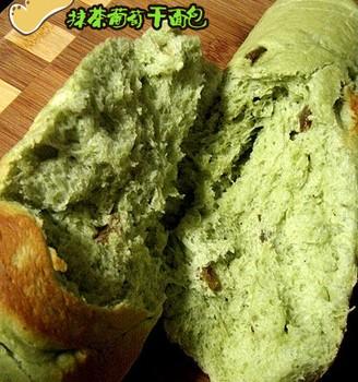 抹茶葡萄干面包