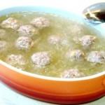 清汤冬茸烩肉丸
