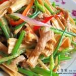韭苔腐竹炒肉丝