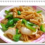 青椒洋葱鱿鱼卷