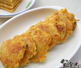 煎红萝卜洋葱饼