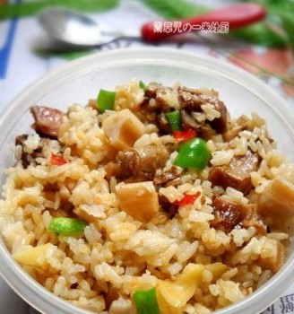 腊鸭焖藕饭