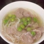 金针菇豌豆肉片汤