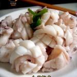 吃海鲜还是用简单的方法最好白灼鱿鱼