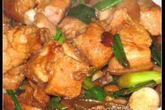 豆瓣酱焖五花肉