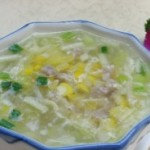 韭黄玉米蛋羹