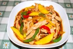芒果菜椒炒里脊肉
