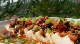 肉末冬菜蒸豆腐