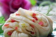 葱香火腿小花卷