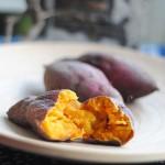 【微波炉烤红薯】很香甜很温暖