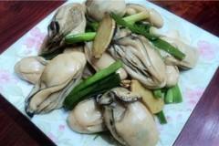姜蒜炒生蚝